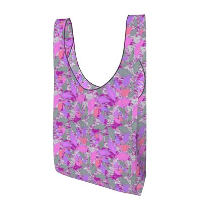 Parachute Shopping Bag, Pink, Mauve, Leaf  Cathedral Leaves  Mauve