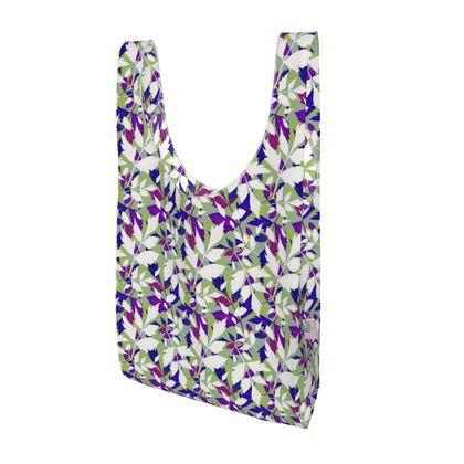 Parachute Shopping Bag, Mauve, White, Leaf  Diamond Leaves  Treetops