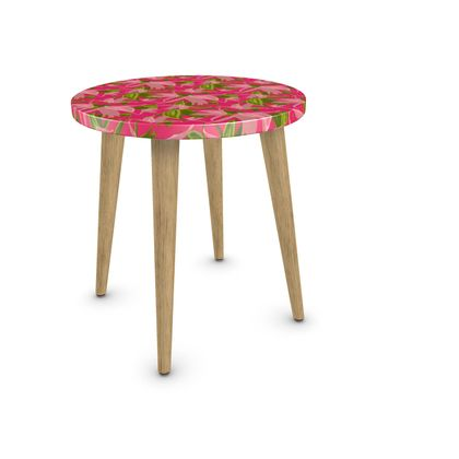 Side Table Pink, Salmon, Flower  Alpina  Candyfloss
