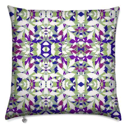 Cushions Mauve, White Leaf  Diamond Leaves  Treetops