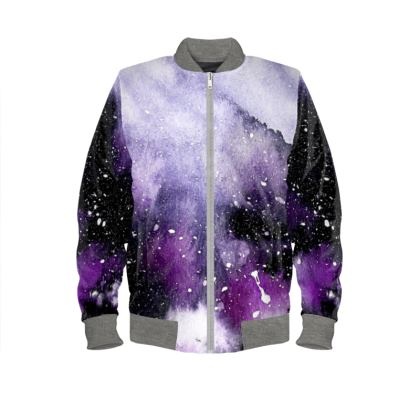 Oceanic Violet Ladies Bomber Jacket