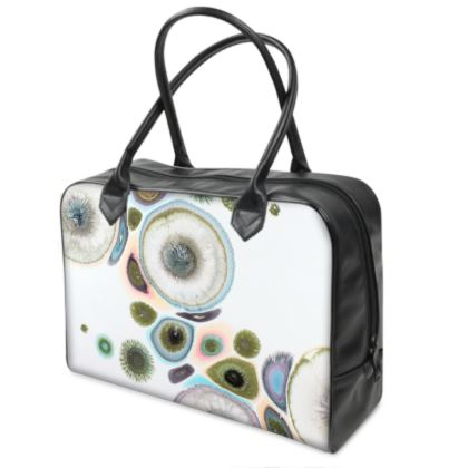 Abstract Zen Art Leather Holdall