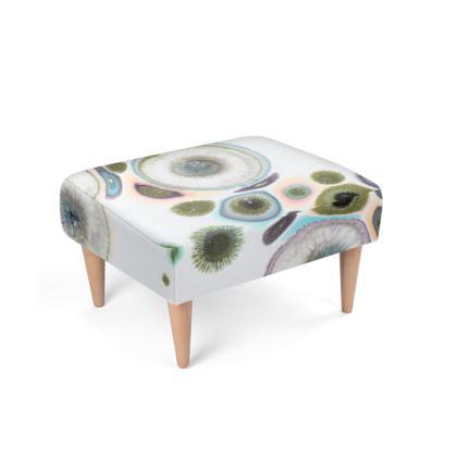 Abstract Zen Art Footstool