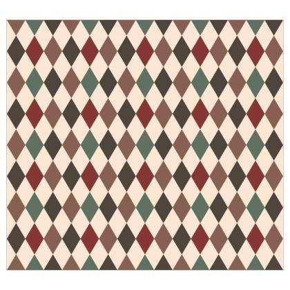 Autumn diamonds - Fabric Printing - rhombuses, beige geometric stylish gift - Tiana Lofd
