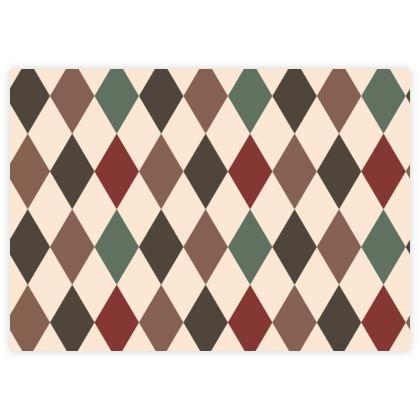 Autumn diamonds - Fabric Sample Test Print - rhombuses, beige warm  fall - Tiana Lofd