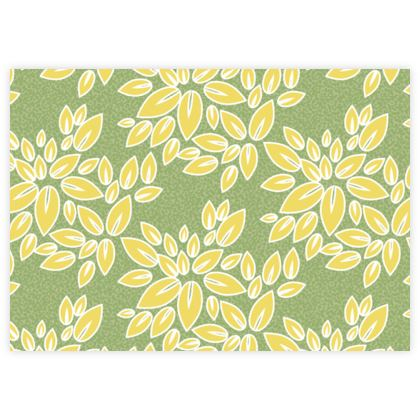 Leaf lace - Fabric Sample Test Print - floral, yellow green leaves, lime, nature, summer gift
