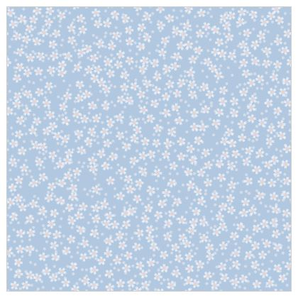 Forget-me-not - Fabric Printing – floral gift, flowered vintage granny chic, light blue flowers, soft