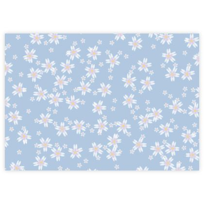 Forget-me-not - Fabric Sample Test Print – floral gift, flowered vintage granny chic, light blue flowers, soft