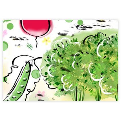 Garden harvest white- Fabric Sample Test Print - Vegetables, countryside, agricultural plants, gardener gift