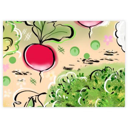 Garden harvest - Fabric Sample Test Print - Vegetables, countryside, agricultural plants, gardener gift