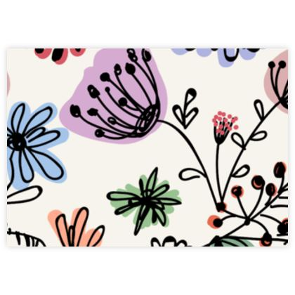 Wild flowers - Fabric Sample Test Print - floral, hand drawing, artistic, botanical, blooming plants