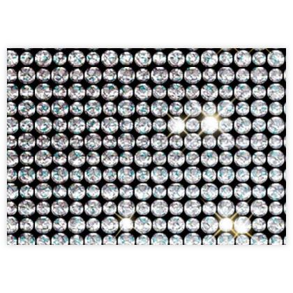 Diamond glamor - Fabric Sample Test Print - Brilliant crystals, sparkling rhinestones, glitter gift, jewelery