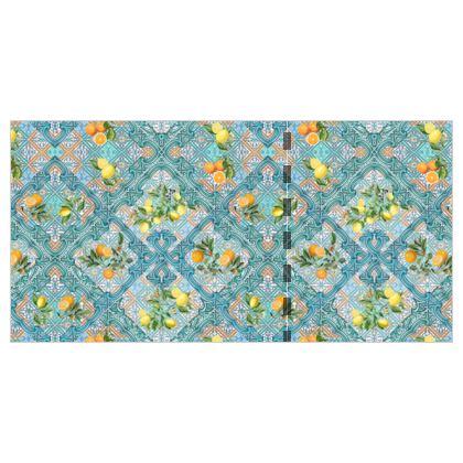 Sicily lemons and oranges_Summer citrus fruit italian tiles_Bloomartgallery