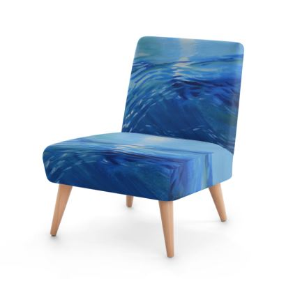 Surreal Moonlit Seascape Chair