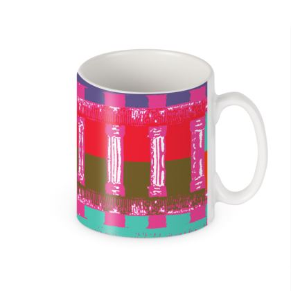 Pink Lattice Ceramic Mug