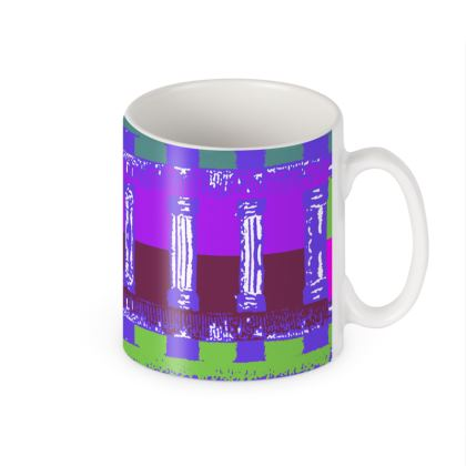 Violet Lattice Ceramic Mug