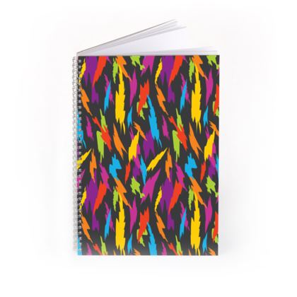Abstract Party Poppers [Dark Grey] Spiral Notebook