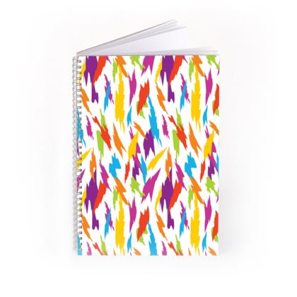 Abstract Party Poppers [White] Spiral Notebook
