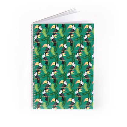 Tropical Toucans Pattern Spiral Notebook