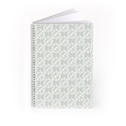 Autumnal Forest Pattern Silver Ivory Spiral Notebook