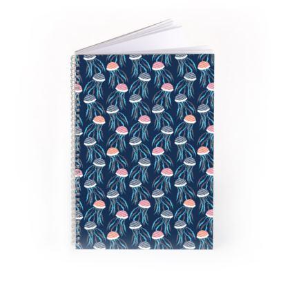 Jellyfish Bloom Pattern Spiral Notebook