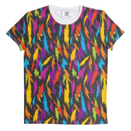 Abstract Party Poppers [Dark Grey] All Over Graphic Tee