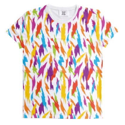 Abstract Party Poppers [White] All Over Graphic Tee