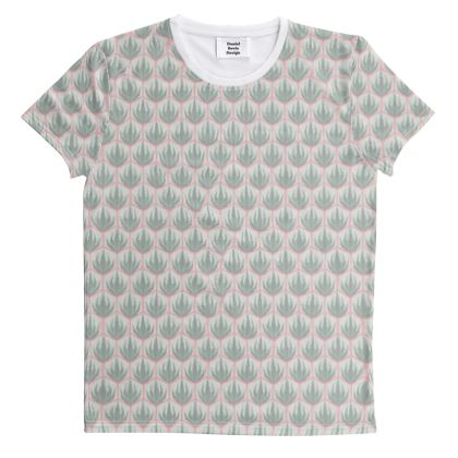 Palm Deco Pattern ~ Spring Succulents All Over Graphic Tee