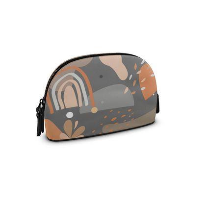 Premium Nappa Make Up Bag Abstract 01