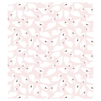 Skater Dress - White Swans on Pink Pattern