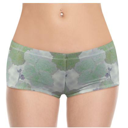 Hot Pants, Turquoise, Ivory, Plant  Hollyhocks  Fernery