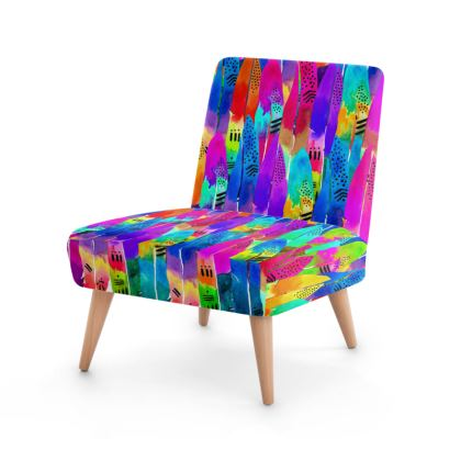 Patterned Parrot Occasional Chair