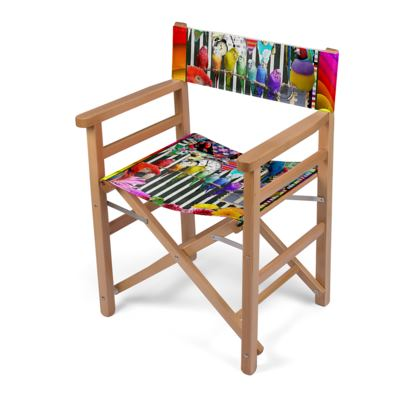 Birds and Bunting Directors Chair