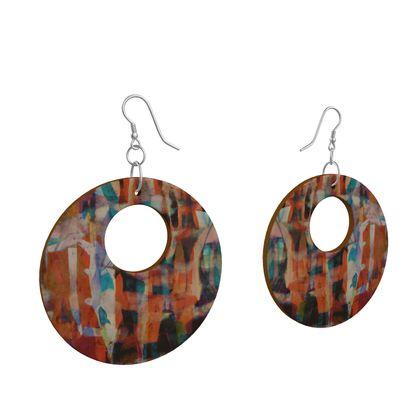 Wooden Earrings Organic Shapes 1