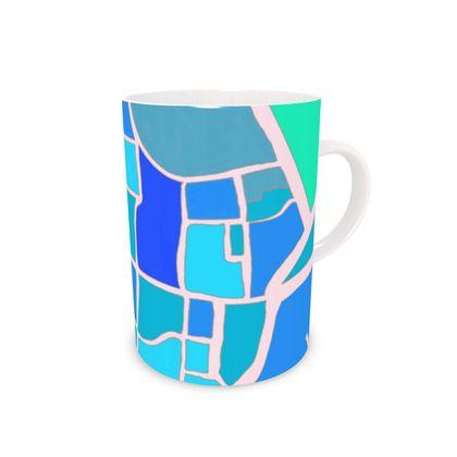 Chichester Blue Bone China Mug