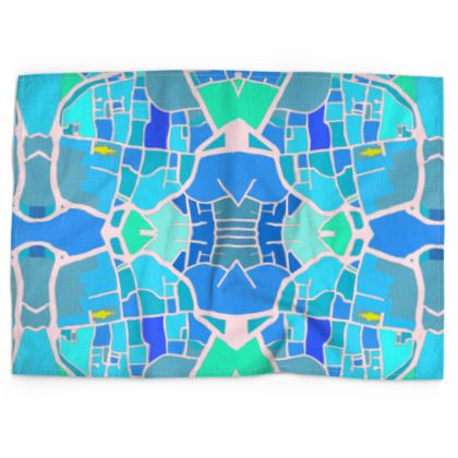 Chichester Blue Tea Towel