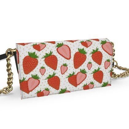 Sweet Strawberries - Kenway Evening Bag white