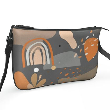 Pochette Double Zip Bag Abstract 01