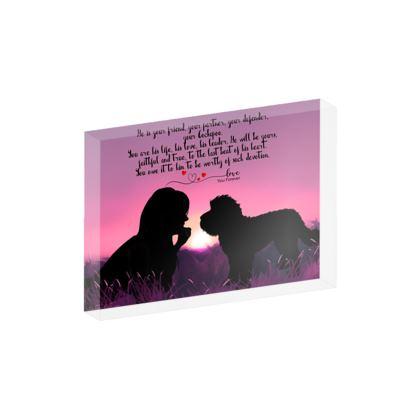 Cockapoo Poem acrylic Block