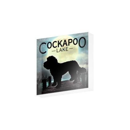 Cockapoo lake acrylic  block