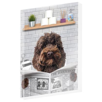 Chocolate Poo on the loo grey tile acrylic block