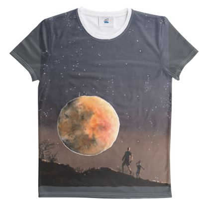 Cut & Sew All Over Print T-Shirt. Image Title : Dire Moon
