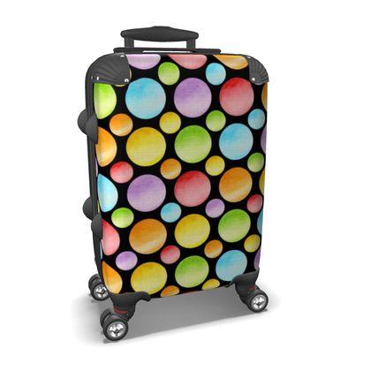 Rainbow Polka Dots Suitcase