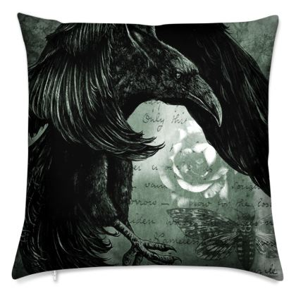 'The Raven' Gothic Cushion