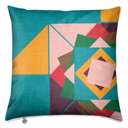 Wind rose teal Cushions