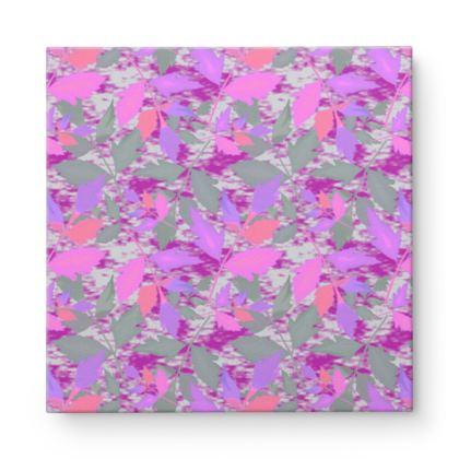 Square Canvas Wholesale, Pink, Mauve, Leaf  Cathedral Leaves  Mauve
