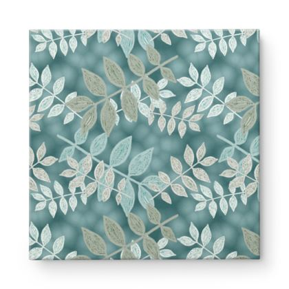 Square Canvas Wholesale Grey - green, Ivory  Metal Spring