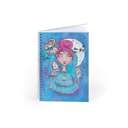 Tea leaves reading inspired spiral notebook
