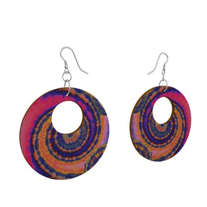 Wooden Earrings Organic Shapes 2