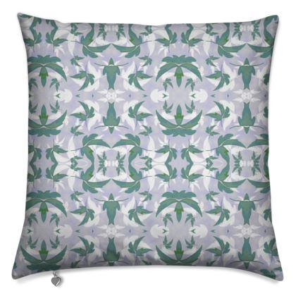 Cushions,Teal, Grey, Leaf  Leaves In Flight  Whisper